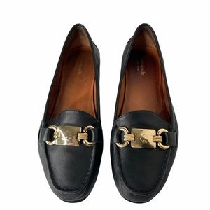 kate spade New York carson black leather loafers